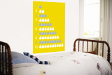 Yellow Counting Pears Wall Mural by  Avalisa