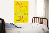 Yellow Rainbow Alphabet Wall Mural by  Avalisa