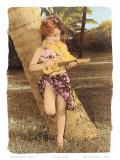 Hawaiian Ukulele Girl, Hawaii, USA Posters by  Himani
