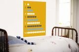 Orange Counting Apples Wall Mural by  Avalisa