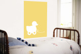 Yellow Ducky Wall Mural by  Avalisa