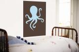 Brown Octopus Wall Mural by  Avalisa
