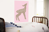 Pink Fawn Wall Mural by  Avalisa