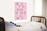 Pink Alphabet Wall Mural by  Avalisa