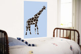 Blue Giraffe Wall Mural by  Avalisa