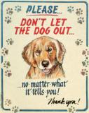 Hauser--Dog Out Blikkskilt