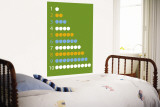 Green Counting Apples Wall Mural by  Avalisa