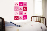 Pink Giraffe Squares Wall Mural by  Avalisa