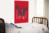 Red Allium Wall Mural by  Avalisa
