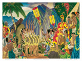 Pomp and Circumstance, Hawaiian Traditional Ceremony Posters af Eugene Savage