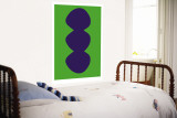 Green Snowman Wall Mural by  Avalisa