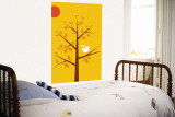 Yellow Songbird Wall Mural by  Avalisa