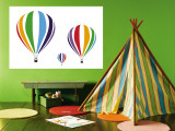 Rainbow Hot Air Balloons Wall Mural by  Avalisa