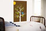 Brown Songbird Wall Mural by  Avalisa