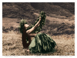 Offering to Pele, Hawaiian Hula Dancer Plakater af Alan Houghton