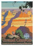 Santa Fe Railroad, Grand Canyon National Park, Arizona, 1940s Plakater av Oscar M. Bryn