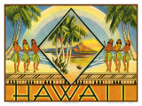 Hawaii-Prospekt 1943 Kunstdrucke