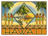 Hawaii Travel Brochure, c.1943 Print