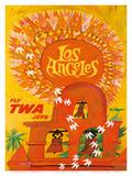 Fly TWA Los Angeles c.1959 Prints by David Klein