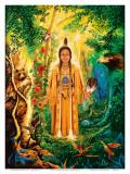 Native American Divine Grandmother Poster van David Rico
