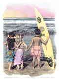 Surf-Keikis Kunstdruck von  Himani