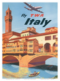 Fly TWA Italy, Florence, 1950s Posters by Frank Lacano