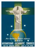 Pan American Airways Rio de Janeiro, Brazil, Christ on the Cross, c.1955 Posters par  La Motta