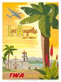 Fly TWA Los Angeles 1950s Poster by Bob Smith