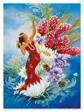 Spirit of Aloha, Hawaiian Hula Dancer Plakater af Warren Rapozo