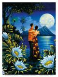 Hawaiian Island Honeymoon Affischer av Warren Rapozo