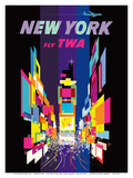Fly TWA New York c.1958 Posters af David Klein