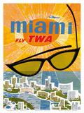 Fly TWA Miami c.1963 Prints by David Klein