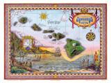 Antique Map of Old Hawaii Plakater av Steve Strickland