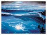Flut bei Mondlicht Poster von Steve Sundram