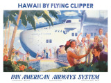 Hawaii by Flying Clipper, Pan American Airways System Plakater