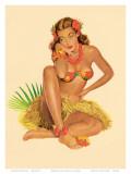 ハワイのピンナップガール1949 高品質プリント : アル・ムーア