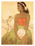 Hula Dancer, Royal Hawaiian Hotel Menu Cover c.1950s Plakater af John Kelly