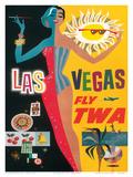 Fly TWA Las Vegas, c.1960 Posters by David Klein
