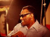 Ray Charles in the Recording Studio Photographie