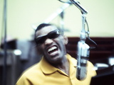 Ray Charles in the Recording Studio Foto
