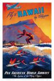 飛行機でハワイへ 高画質プリント : M. ヴォン・アレンバーグ