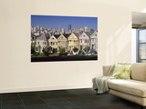 Alamo Square and City Skyline, San Francisco, California Usa Mural por Gavin Hellier