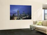 Financial District and Frankfurt Skyline, Germany Mural por Jon Arnold