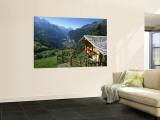 Alpine Cabin, Wengen and Lauterbrunnen Valley, Berner Oberland, Switzerland Wall Mural by Doug Pearson