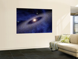 Planets and Asteroids Circle Around Not One, But Two Suns Wall Mural