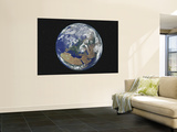 Earth Centered on Europe Wall Mural