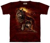 Wolf Sunset Skjorte