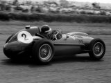 Mike Hawthorn in Ferrari, 1958 British Grand Prix Fotografisk tryk