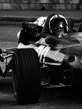 Chris Amon in Ferrari during 1967 Italian Grand Prix Fotografie-Druck