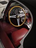 1961 Jaguar E Type Interior Lámina fotográfica por S. Clay